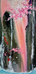 An Evening's Kindness by Danielle O'Connor Akiyama - Original Painting on Box Canvas sized 30x60 inches. Available from Whitewall Galleries